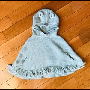 Baby Gap grey knit poncho